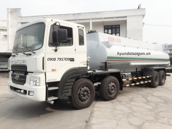 Xe bồn hyundai chở xăng dầu