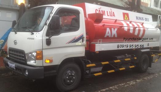 Xe bồn xăng dầu 7000 lít hyundai HD 98