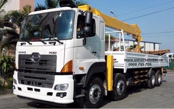 Xe tải Hino 4 chân FY gắn cẩu Kanglim 15 tấn 6...
