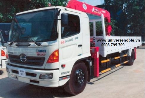 Xe tải Hino 8 tấn FG gắn cẩu Unic 5 tấn V550 4 khúc-5 khúc