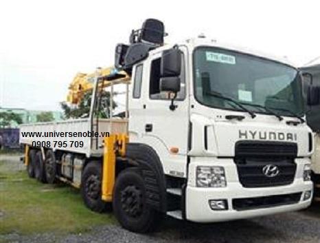 Xe tải Hyundai 5 chân HD360 gắn cẩu Soosan 10 tấn